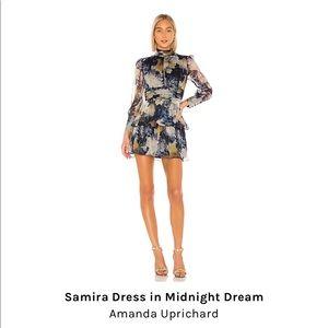 Amanda Uprichard Samira dress in midnight dream
